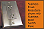 Stainless steel finish receptacles shown with our stainless steel switchplate