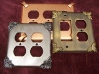 Switchplates in 38 custom finishes and 12 designs