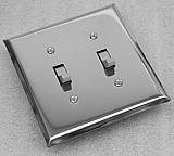 Shiny Chrome Switchplates and outlet covers