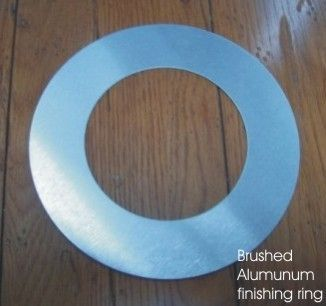 Aluminum floor box mistake finishing ring