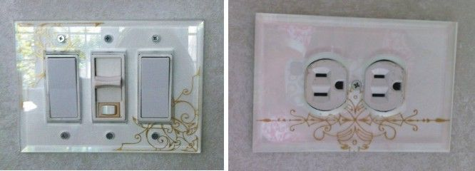 Low iron glass switch plates