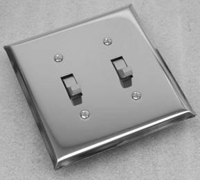 Shiny Chrome Switch Plates