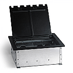 AP-CF10C - EIGHT PORT BOX for concrete floors with with four ports for Power and four ports for AV or low voltage.