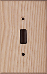 Ash wood switch plates