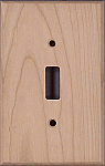 Cherry wood switch plates