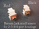 AP-40837 Banana Jacks. Set of two in 6 colors