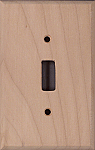 Alder Wood Switch Plates
