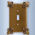 Fleur De Lis Design Wall Plates | Switchplates | Switch Plates | GFCI | Rocker Covers