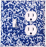 Blue Marbleware switch plates