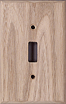 Butternut wooden switch plates
