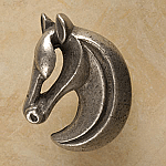 #AP249 Gelding Horse Cabinet Knob Facing Left