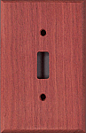 Bloodwood wood switchplates