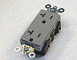 AP-16362-GY Gray Decora Plus Duplex Receptacle