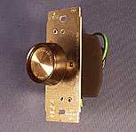Dimmer switch in push button in brown