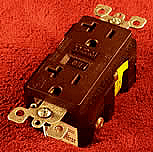 Electrical Supplies in a brown GFCI receptacle