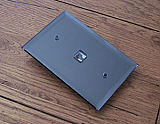 Gray Mirrored Switchplates