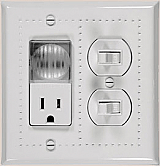 Half nightlight for switch plates