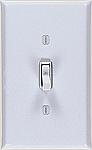 White Enamel Plain Switch plates