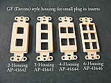 2-3-4-6 Port Housing inserts for GF (Decora) style switchplates