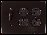 Mirror Black Switch Plates