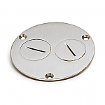 AP-523-DP-NS Nickel Silver Floor Box Cover
