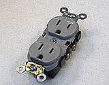 AP-CR15-GY Duplex Receptacle Outlet