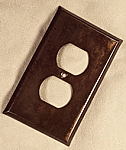 Copper Patina finish in an outlet cover