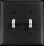 Soft Black Plain Switch Plates