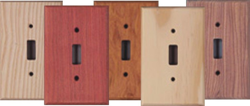 Custom Unfinished Wood Switchplates