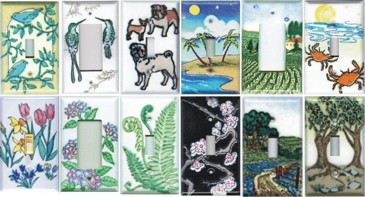 Porcelain Enameled Switchplates in many beautiful designs