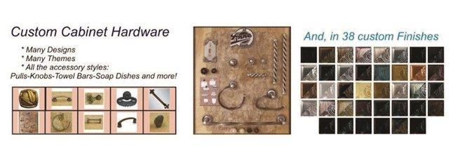 All cablinet hardware designs and finishes