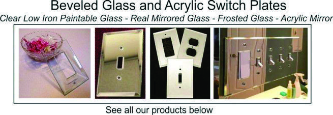 Glass switch plate banner
