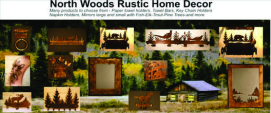 North Woods Rustic design accessories for the home or cabin