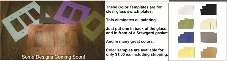 Color templates for the clear glass plates so no painting is needed on the glass back sides