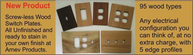 screwless wooden wall plate covers