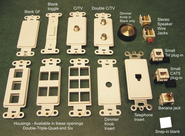 Bronze Switch plates low voltage inserts