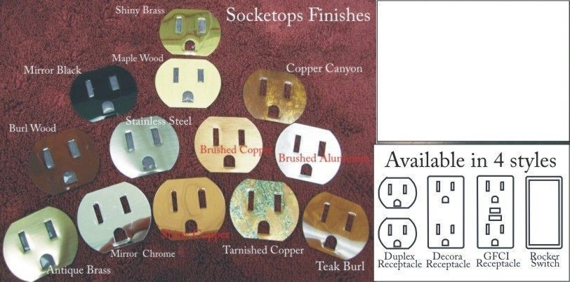 Socketops peel and stick for switch plates