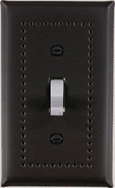 Matte soft black switchplates border design