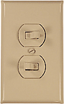 Left and right toggle switches for switchplates