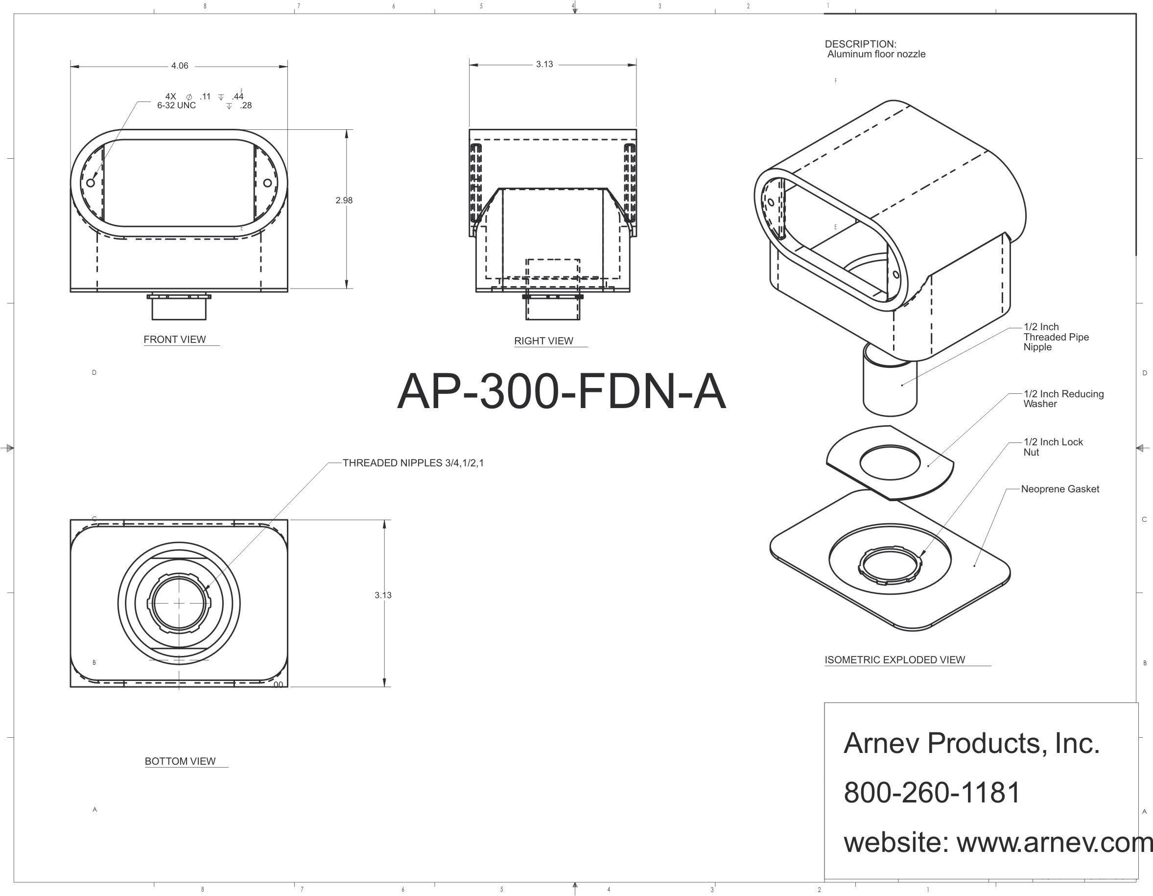 Ap Fdn 300 A Tombstone Concrete Floor Electrical Boxes