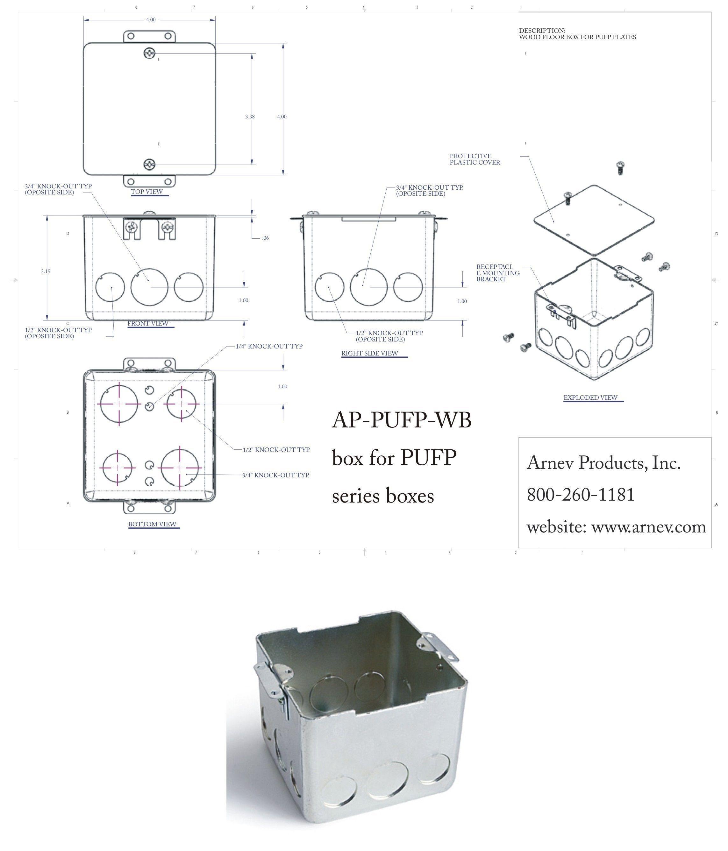 brass gang iron floorbox flush floor collar outlet itm hubbell floors deep rectangular cast c conc