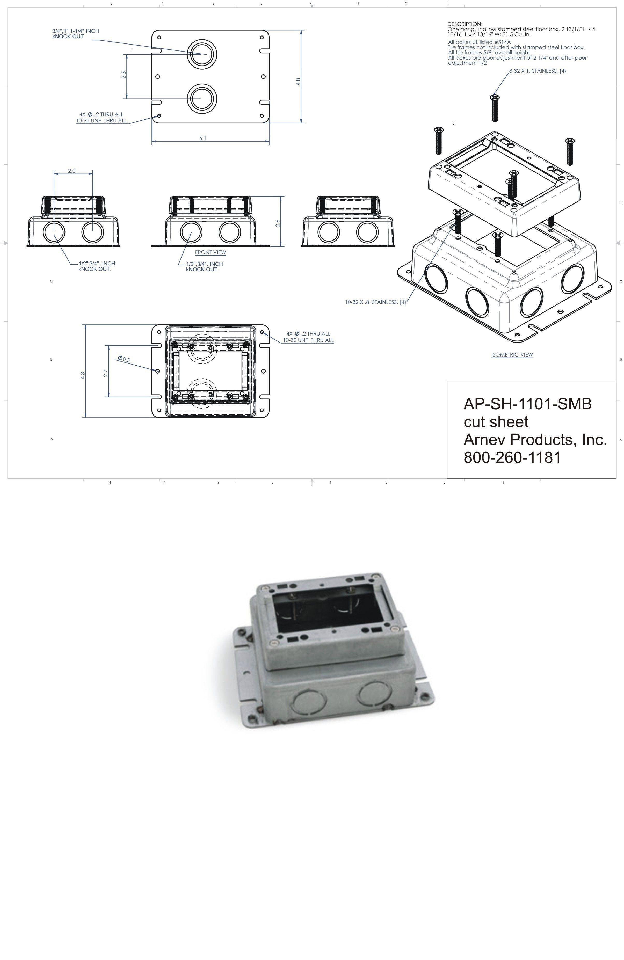 Ap Sh 1101 Smb Concrete Floor Electrical Boxes Outlet
