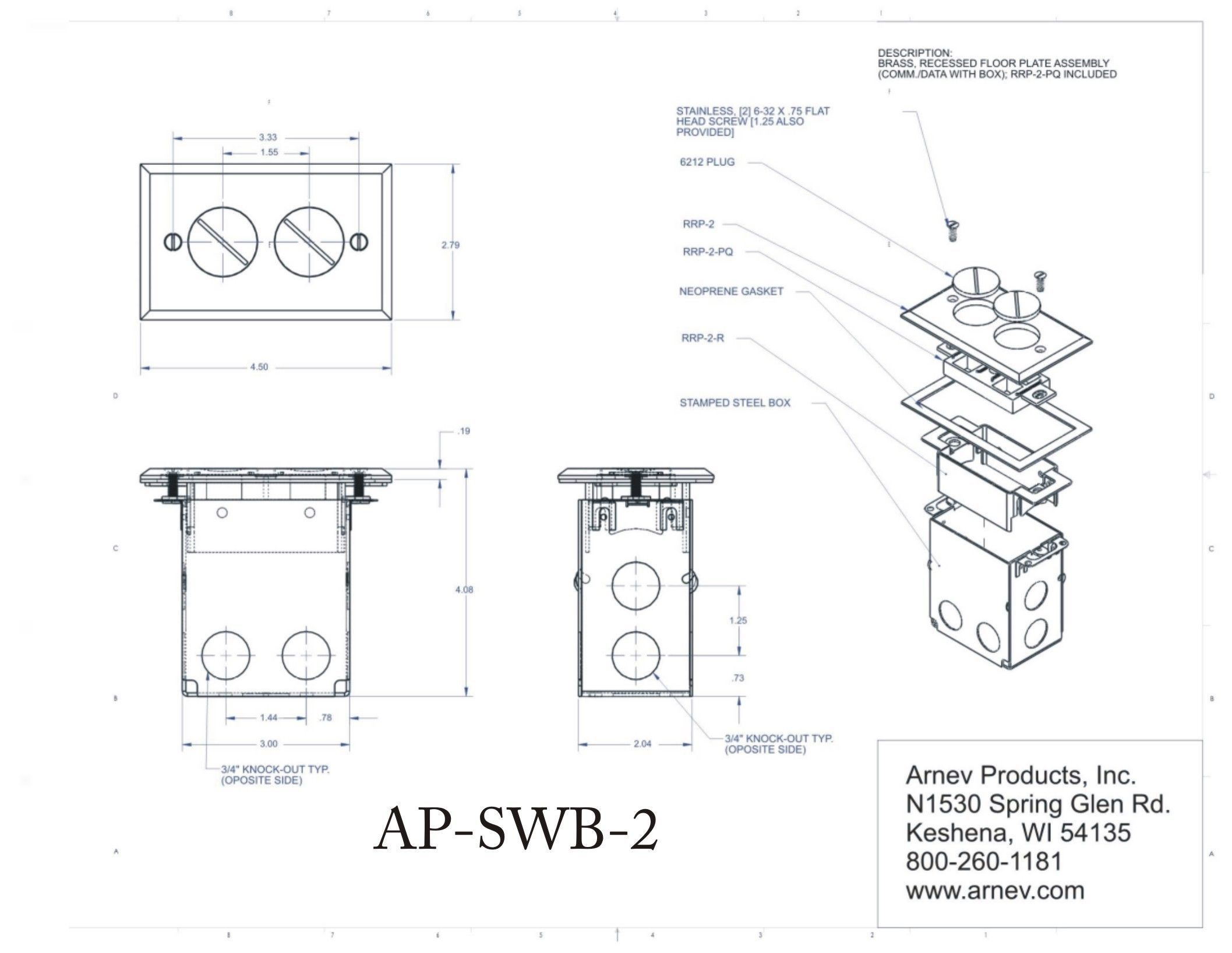Ap Swb2 Floor Outlets Floor Box Floor Outlet Box