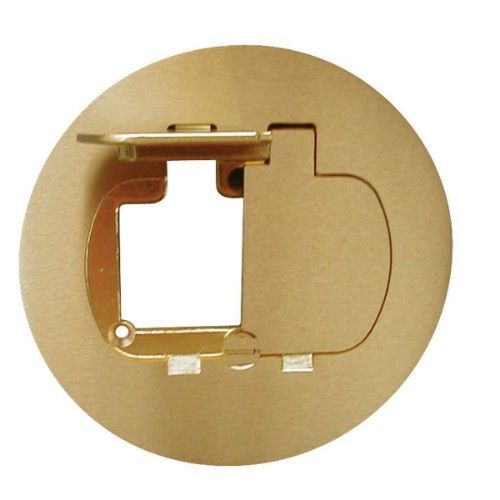 APC E97BR2 Floor Box Cover Brass For Duplex