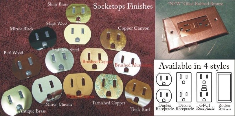 Stainless steel switchplates outlet