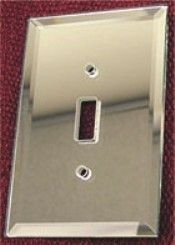 Mirrored glass switch plates