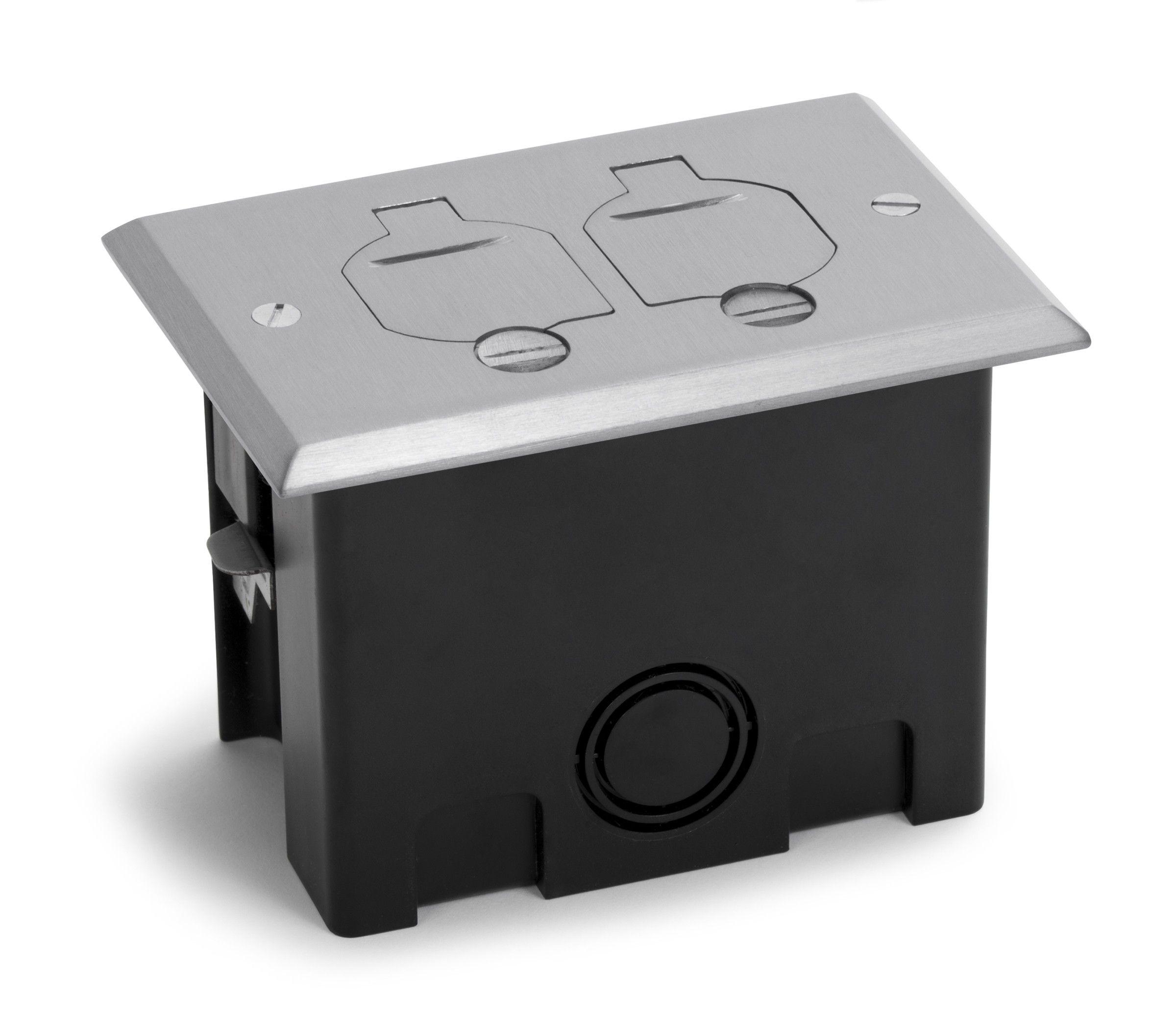 Rectangular Plastic Boxes For Wood Floors In Brass Or Aluminum