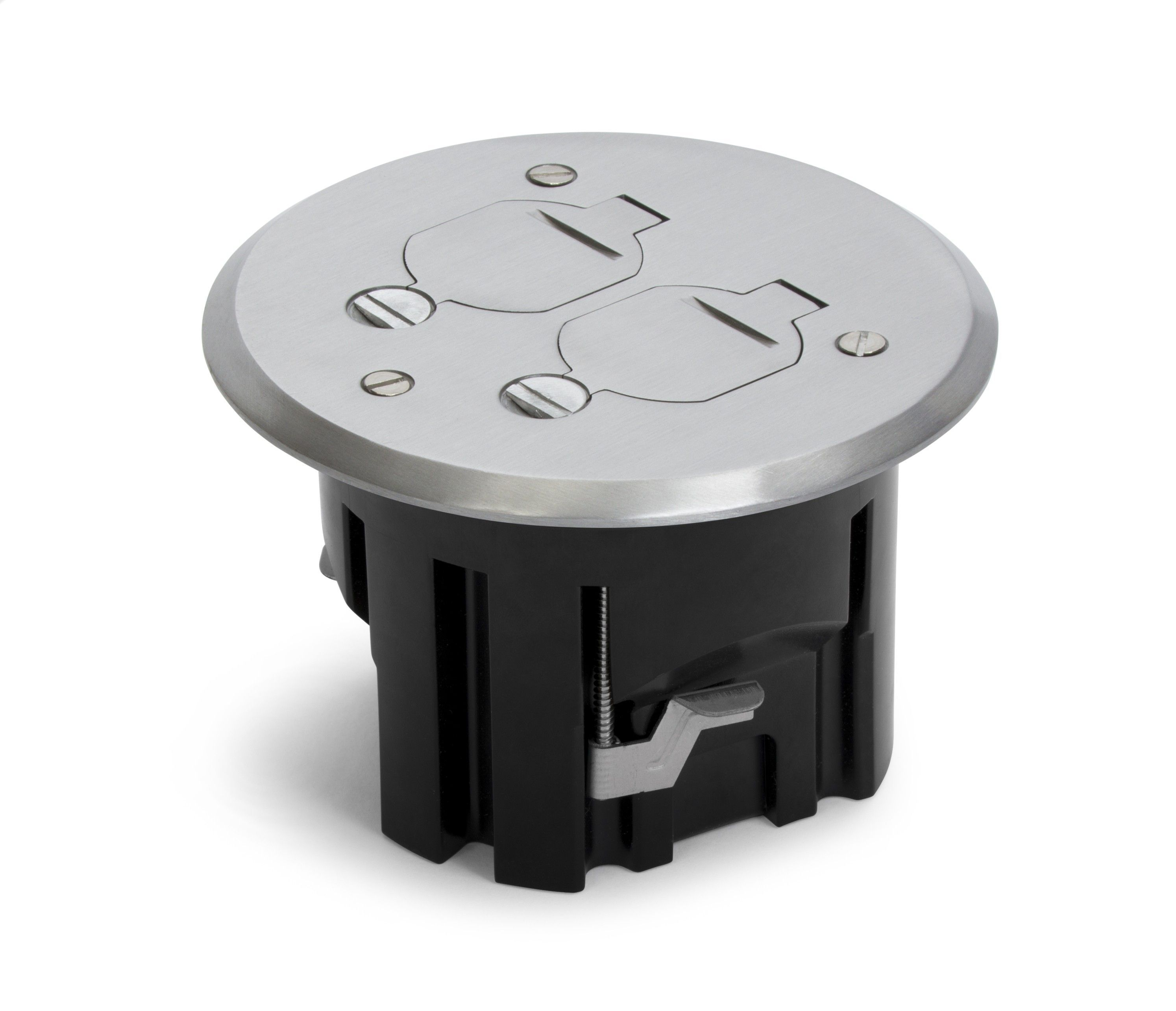 Plastic Floor Boxes With Brass Or Aluminum Covers