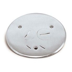 AP-TCP-2-PC floor box cover with low voltage and in Brass or Aluminum