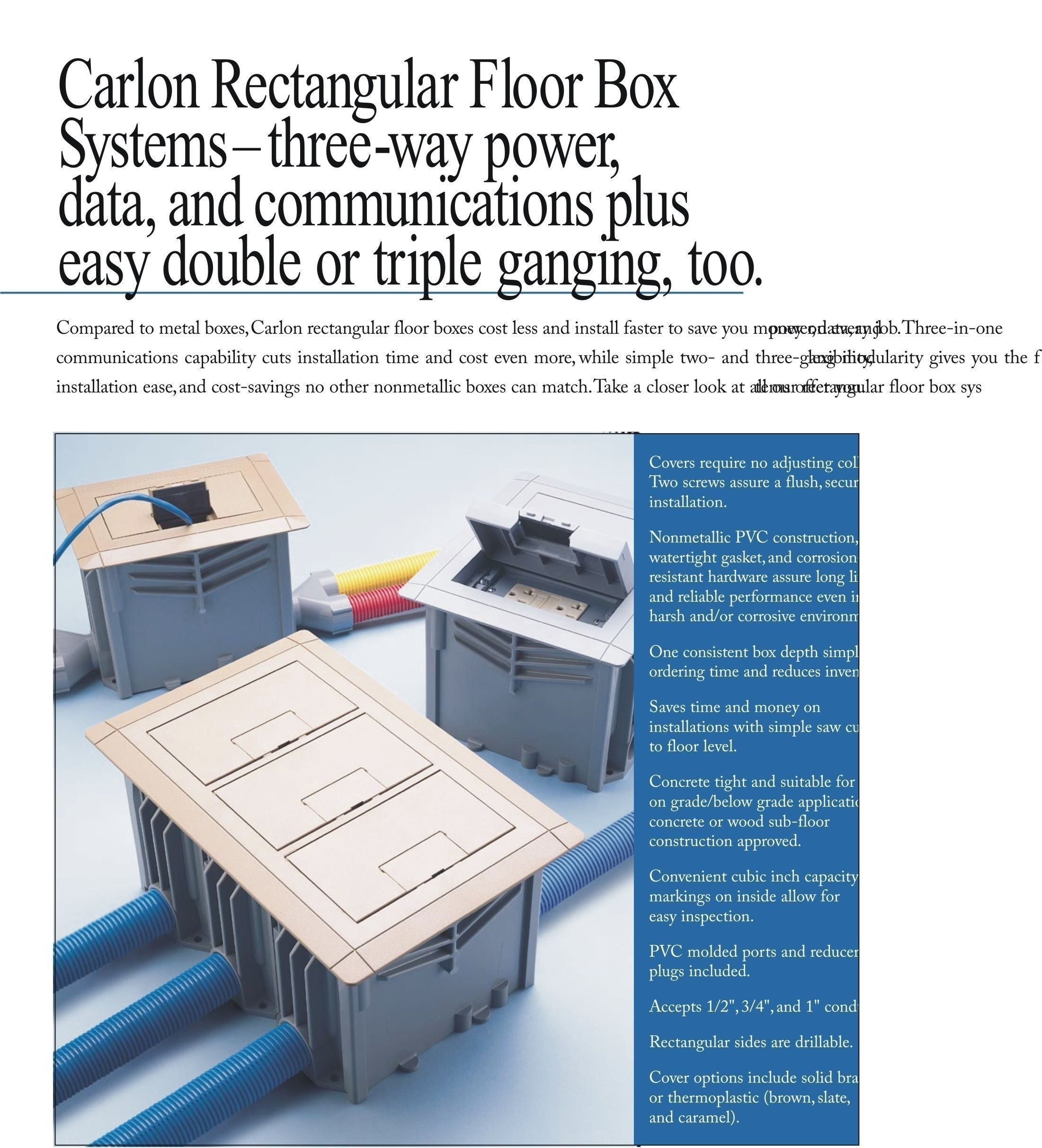 APC E976RFB (3 Pack) Floor Boxes Sold Only In A 3 Pack For $329.90 Complete  With Devices.